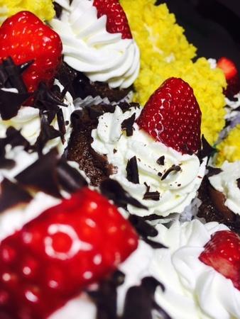 Cupcake con fragole con prodotti locali